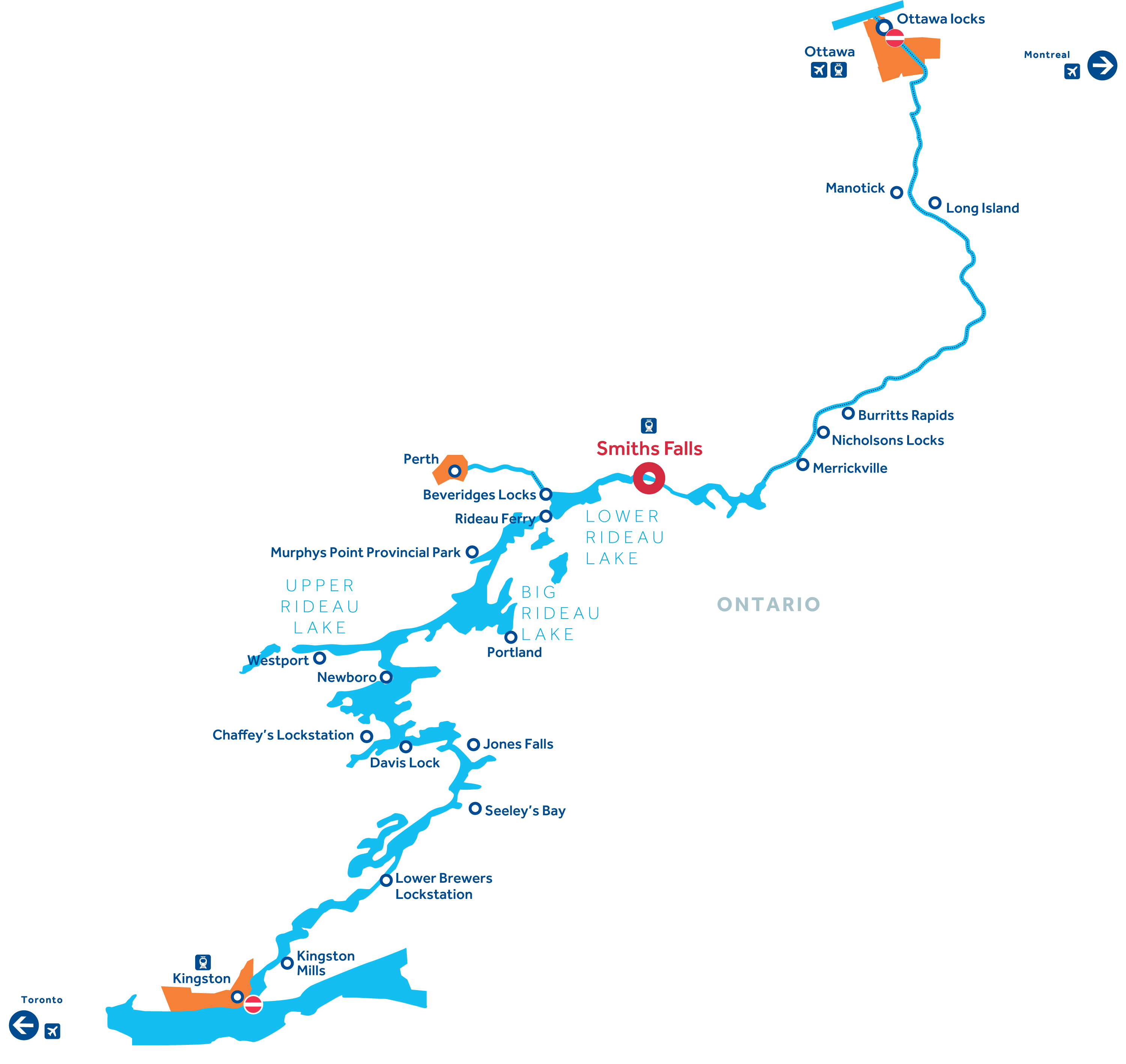 Rideau Canal Map