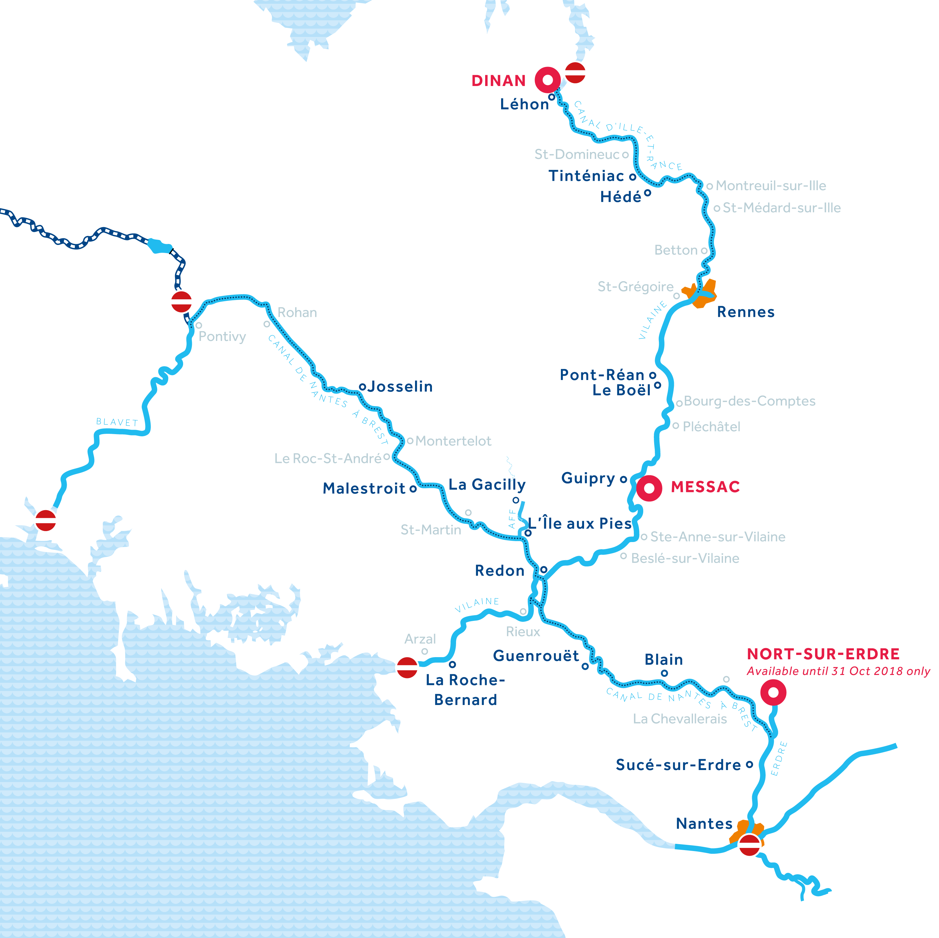 Brittany region map