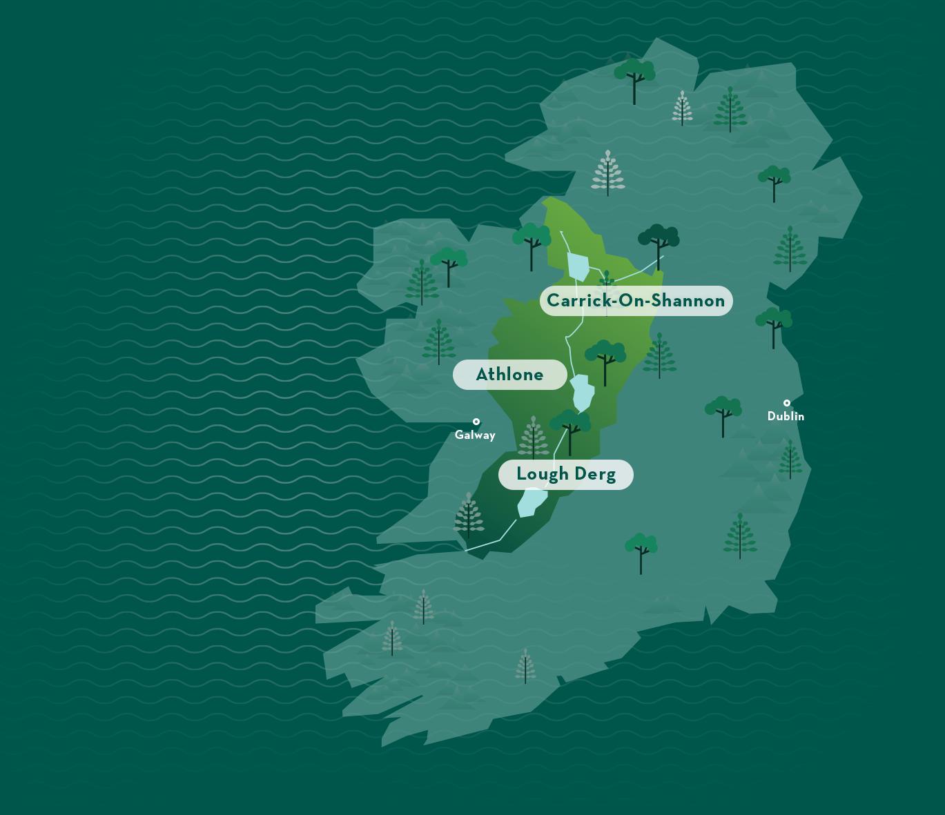 Le Boat - Map of Ireland's Hidden Heartlands