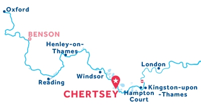 Chertsey base location map