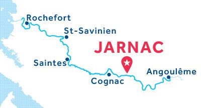 Jarnac base location map