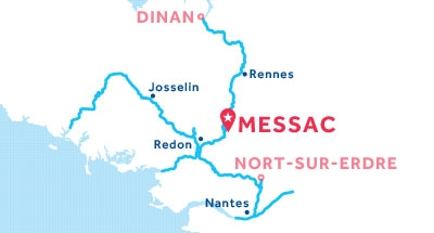 Messac base location map