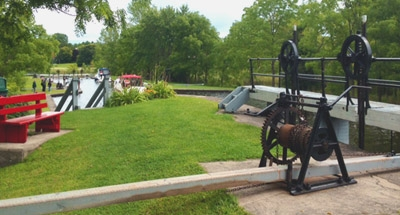 Operating a lock on the Rideau Canal