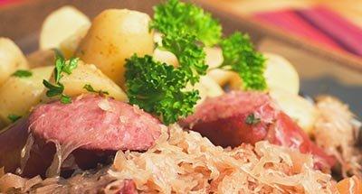 Sausages and Saurkraut