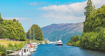 View down Caledonian Canal