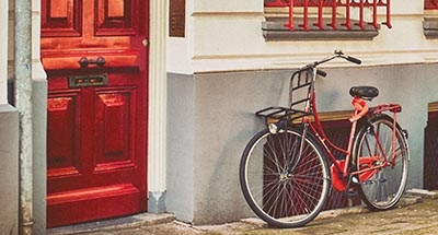 Red cycle and red door