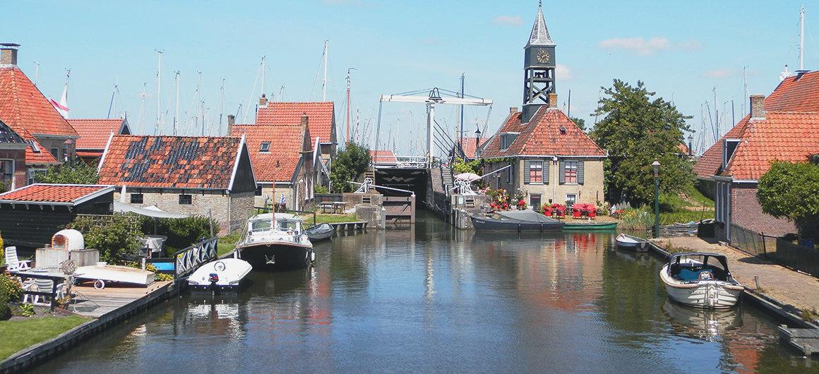 Lock in Hindeloopen, Netherlands