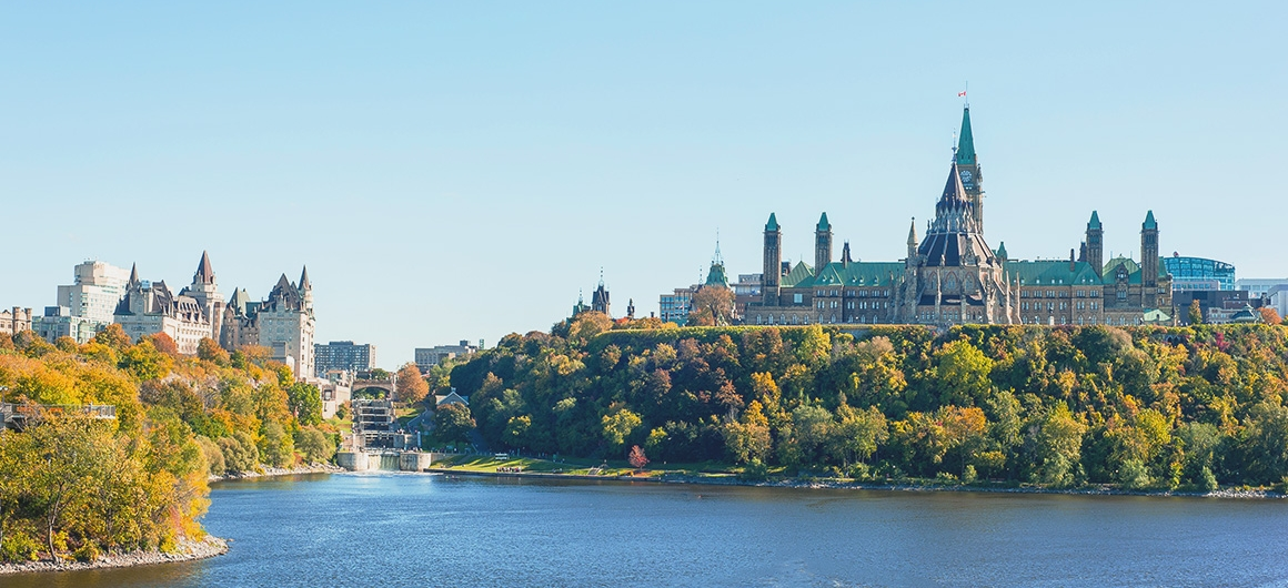 Parliament Hill & the end of the Rideau Canal, Ottawa