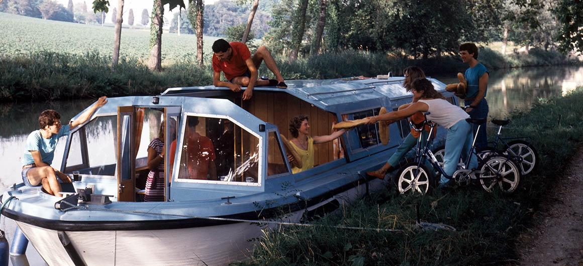 Family on board Crown Blue Line boat